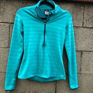 Nike Pro Dri-Fit Teal Running Pullover Thumb Hole
